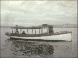 Launch EMMA (?), Puget Sound, Washington, ca. 1900.