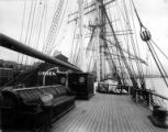 Deck of the British sailing vessel GENERAL ROBERTS, Washington, ca. 1900