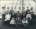 Crew of the German sailing vessel DREHNA, Washington, ca. 1904.