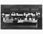 Vegetable stall at the Pike Place Market, Seattle, n.d.