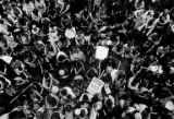 Overhead view of a crowd gathered for an Equal Rights Amendment rally at Waterfront Park in...