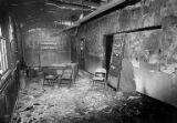 Interior of a fire-damaged warehouse near Fort Lawton, Seattle, Washington, September 30, 1978