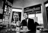 "John E. ""Jack"" Cunningham III, candidate for 7th Congressional District, seated in his office on..."