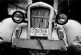 Front grill of a 1935 Dodge Coupe parked at NE 50th St. and Roosevelt Way NE, Seattle, Washington,...