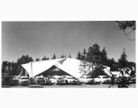 Multipurpose Building exterior at Mercer Island High School, ca. 1960