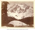 Untitled [Mountain scene and snowbank]
