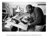 Jacob Lawrence, painter, Seattle, March 1979