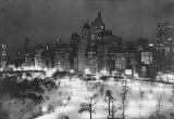 Central Park in winter, New York City, 1935
