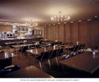 Plaza 5 restaurant dining area and counter, Seattle, 1966