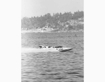 Hydroplane U-25, Miss Spokane on Lake Washington during Seafair hydroplane races, 1960