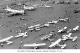 Planes on display at the Washington International Air Fair held at Paine Airfield, Everett,...