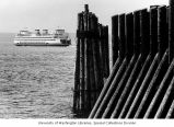 Ferry crossing Puget Sound near Edmonds, Washington, August 11, 1974