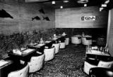 Interior of the Lani Kai Restaurant and Lounge at the Leilani Lanes bowling alley in the Greenwood...