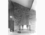 Fireplace in Brownell house, designed by Paul Thiry, 1955