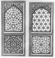 Details of inlaid mosaic panels on the main gate of Akbar's tomb, Agra, Uttar Pradesh, India,...