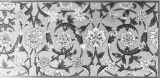 Painted designs on the dados, in the vestibule of the tomb's main building, Akbar's tomb, Agra,...