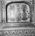 Painted lion designs in a niche, in the interior of the tomb of I'timad-ud-Daulah, Agra, Uttar...