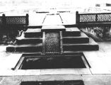 Main platform and water system of Babur's Bagh-i-Gul Afshan, also known as Ram Bagh, Agra's...