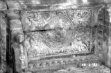 Carving on the soffit of the chhajja, at the tomb of I'timad Khan, Agra's trans-Jamuna region,...