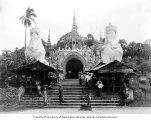 Entrance of Shwedagon Pagoda, Rangoon, ca. 1921