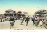 Bicyclists on Sanjo Street, Kyoto, n.d.