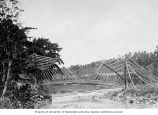 Bridge constructed of bamboo, Central Java, ca. 1921