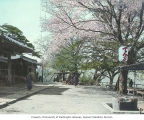 Community water basin and street scene, Japan, ca. 1921