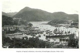 Aberdeen harbor and surrounding shore with sampans, junks, and houseboats, Hong Kong, n.d.
