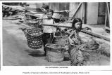Children working as rag gatherers, Singapore, ca. 1925