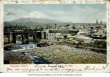 Arequipa showing the volcano El Misti in the background, ca. 1906