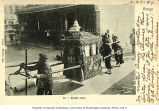 Bridal palanquin with porters in street, Xiamen, China, ca. 1907