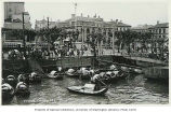 French consulate with view of sampans and pedestrians, Shanghai, China, ca. 1925