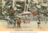 Sedan chair and rickshaw, Hong Kong, n.d.