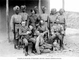 Officers of the 37th Dogras and their Indian orderlies, Idak, 1898