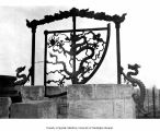 Iron artwork at Observatory near Tung Pien Men, Beijing, China, ca. 1931