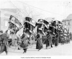 Procession (funeral?) in street, China, ca. 1931