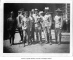 Lt. T.M. Anderson, Jr. with group of men, Luzon, Philippines, ca. 1898