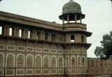 Close up of Jahangir palace with tower, Red Fort, Agra, Uttar Pradesh, India, ca. 16th century A.D.