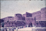 Approach and entrance to Red Fort, Agra, Uttar Pradesh, India, ca. 16th century A.D.
