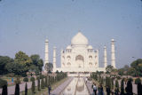 Taj Mahal with reflecting pool and walkways, Agra, Uttar Pradesh, India, ca. 17th century A.D.