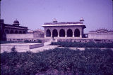 Gardens in front of royal palace, Red Fort, Agra, Uttar Pradesh, India, ca. 17th century A.D.
