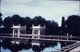 Marble paviion and reflecting pool at Shalimar Gardens in Lahore, Pakistan, ca. 17th century A.D.