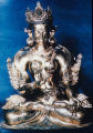 Bronze sculpture of White Tara, Nepal, ca. 18th century A.D.