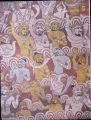 Detail of monsters in fresco of Mara's army, Dambulla Cave Temple, Matale, Sri Lanka, ca. 18th...