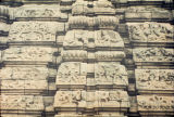 Close up of relief panels on Siddreshwara temple gandi, Solapur District, West Bengal, India