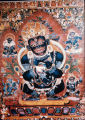 Nepalese painting of Mahakala, 15th century A.D.