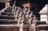 Nyatapola temple steps with seven levels, Bhaktapur, Nepal, ca. 1703 A.D.