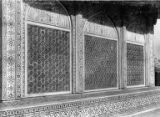 Upper portion of Tomb of Itmad-ud-Daulah (Pillar of the State), Agra, India, ca. 1906