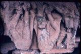 Broken rock-cut monumental figures, Pitalkhora caves, Maharashtra, India, ca. 1st century A.D.