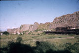 Distant view of Tughlaqabad Fort ruins, Delhi, India, ca. 13th-14th century A.D.